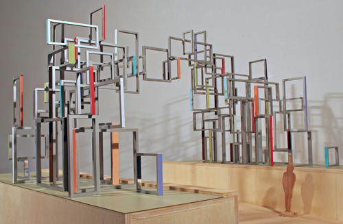 "The Gallery at UTA's latest exhibit will feature Tom Orr's concept model for ""Intersected Passage,"" an installation piece scheduled for construction at Dallas Love Field later this year. (Photo contributed.)"
