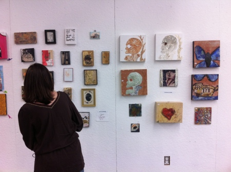 Advanced painting students sold their work in a Small Paintings Sale late last month at the Studio Arts Center. (Photo by James Dunning)