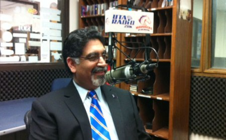 In June, UTA President Dr. Vistasp Karbhari took some time to chat with UTA Radio about his new role and goals for the university. Check out the interview at http://radio.uta.edu/index.php/news. (Photo contributed)