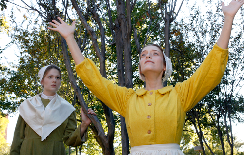 """Emily Burgardt, left, and Samantha Fields are part of the cast for """"As It Is in Heaven,"""" a new production from Maverick Theatre Company that opens Nov. 15. (Photo contributed)"""