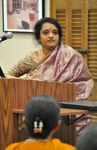 Archana Verma, a senior fellow in India's Ministry of Culture, gives the keynote lecture in a Feb. 10 lecture event on South Asia in the Central Library Sixth Floor Parlor.