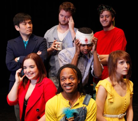 Featured actors from MavPlays 2014 include (from left, back row) Joseph Lee, Emmaric Zipper and Andrew Beckman; (from left, second row) Chelsea Hollenback, Brandon Bradley and Samantha Fields; and (front) Joshua Nash. (Photo contributed)
