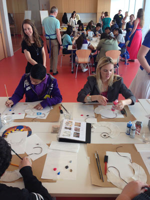 UT Arlington students work with visitors to the Kimball Art Museum in Fort Worth. (Photo contributed)