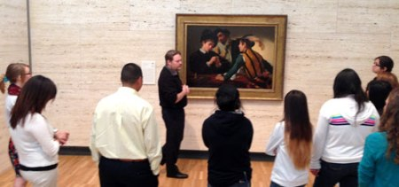 UT Arlington students tour Kimball Art Museum in Fort Worth. (Photo contributed)