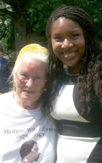 Communication junior Nadajalah Bennett (right) poses with original Freedom Rider Joan Trumpauer. (Photo contributed)