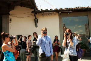 UT Arlington students take pictures on a study-abroad trip to Italy in 2013. (Photo contributed by Kenda North)