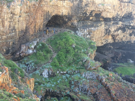 The Knysna, South Africa, dig site is in a cave near the coast. (Photo contributed)