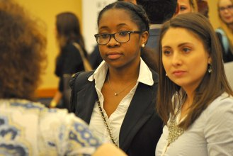 Communication students explore internship and career possibilities during Comm Day 2015. (Photo by James Dunning/COLA)