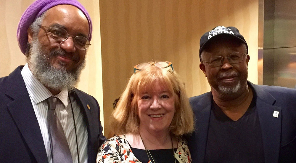 Associate Professor and Department Chair W. Marvin Dulaney (History) recently attended the Centennial Conference of the Association for the Study of African American Life and History in Atlanta, Ga. He met with Amilcar Shabazz (University of Massachusetts), left, and Catherine Clinton (UT San Antonio), center. Clinton will be at UTA on Oct. 29 for a lecture. (Photo contributed)