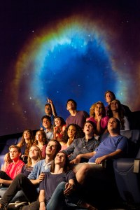"The cast of ""The Theory of Relativity"" poses for a publicity photo in the UTA Planetarium. The musical runs Oct. 7-11. (Photo contributed)"