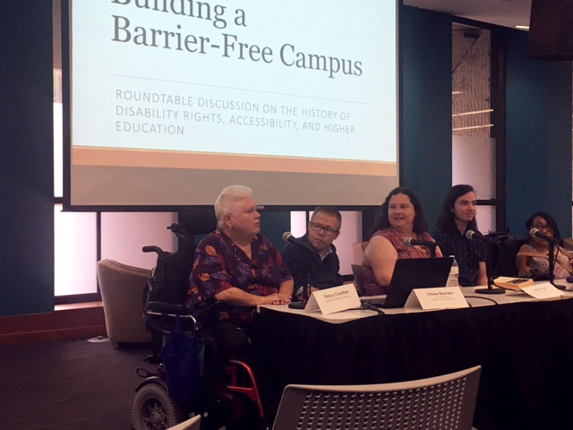 Barrier Free Panel Discussion at UT Courtesy Andres Ramirez
